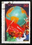 de arbeiders, wijdden aan oogst van 10 miljoen, circa 1970 toe Royalty-vrije Stock Afbeeldingen