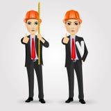 De arbeidersbouwer van de bouwingenieur Stock Afbeeldingen