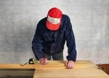 De arbeidersmaatregelen stock fotografie