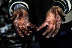 De arbeidersmensen van handen Stock Afbeelding