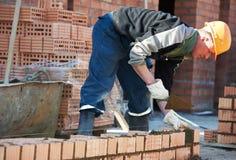De arbeidersmetselaar van de bouwmetselaar royalty-vrije stock afbeelding