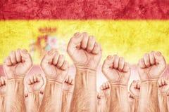 De Arbeidsbeweging van Spanje, arbeidersvakbond staking Stock Afbeeldingen