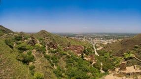 De archeologische plaats en Boeddhistisch klooster Pakistan van takht-I-Bhai Parthian stock foto's