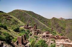 De archeologische plaats en Boeddhistisch klooster Pakistan van takht-I-Bhai Parthian royalty-vrije stock afbeelding