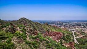 De archeologische plaats en Boeddhistisch klooster Pakistan van takht-I-Bhai Parthian royalty-vrije stock foto