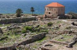 De Archeologische Plaats van Byblos, Libanon Stock Foto's