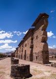De archeologische plaats van de incatempel Raqchi, Peru Stock Afbeelding