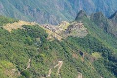 De archeologische plaats van Machupicchu, Peru royalty-vrije stock fotografie