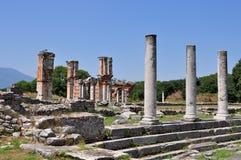 De archeologische plaats van Philippi, Griekenland Europa Stock Foto's