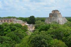 De Archeologische Plaats van Uxmal stock foto's
