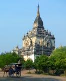 De Archeologische Streek van Bagan van de Tempel van Gawdawpalin. Myanmar (Birma) Stock Afbeelding