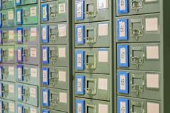 De archiefkast is staal Gebruikt voor documentopslag Het is zeer a royalty-vrije stock afbeeldingen