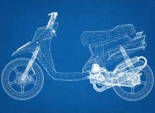 De Architect Blueprint van het autopedontwerp Royalty-vrije Stock Foto