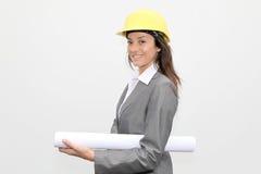 De architect van de vrouw Stock Fotografie