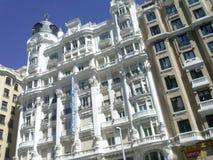 De architectonische bouw in Centrum van Madrid, Espana royalty-vrije stock afbeelding