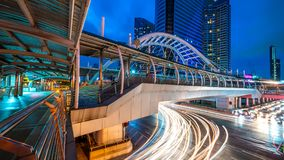 De architecturale Brugbouw in Bangkok royalty-vrije stock foto