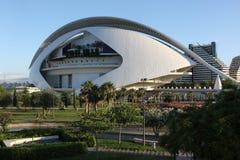 De architecturale complexe Stad van Valencia van Kunsten en Wetenschappen Royalty-vrije Stock Fotografie
