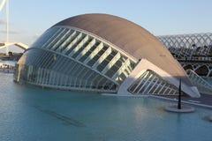 De architecturale complexe Stad van Valencia van Kunsten en Wetenschappen Royalty-vrije Stock Afbeelding