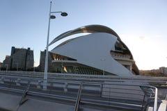 De architecturale complexe Stad van Valencia van Kunsten en Wetenschappen Royalty-vrije Stock Foto's