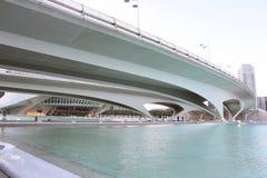 De architecturale complexe Stad van Valencia van Kunsten en Wetenschappen Stock Foto's