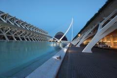De architecturale complexe Stad van Valencia van Kunsten en Wetenschappen Stock Afbeelding