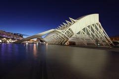 De architecturale complexe Stad van Valencia van Kunsten en Wetenschappen Royalty-vrije Stock Foto