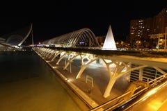 De architecturale complexe Stad van Valencia van Kunsten en Wetenschappen Stock Afbeeldingen