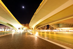 De architecturale complexe Stad van Valencia van Kunsten en Wetenschappen Royalty-vrije Stock Afbeeldingen