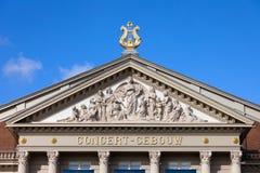 De Architecturale Details van Amsterdam Concertgebouw Stock Fotografie