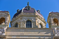 De architecturale en artistieke details van Biologiemuseum die op Maria Theresa voortbouwen regelen in Wenen Stock Foto's