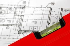 De architecturale plannen van het huis Stock Afbeeldingen