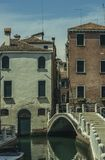 De Architecturale Scène van Venetië Stock Foto