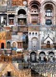 De architectuur Armenië van collagen Stock Afbeelding