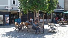 De architectuur Oude stad van Albanië Korca Stock Foto