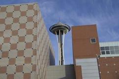De architectuur ruimtenaald van Seattle stock afbeeldingen