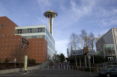 De architectuur ruimtenaald van Seattle stock foto