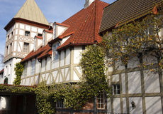 De Architectuur Solvang Californië van Tudor Royalty-vrije Stock Foto