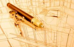 De architectuur trekt Royalty-vrije Stock Afbeeldingen