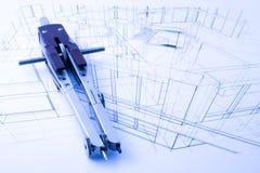 De architectuur trekt Stock Afbeelding