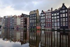 De architectuur van Amsterdam Stock Foto's