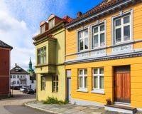 De architectuur van Bergen Stock Foto's