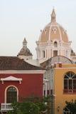 De architectuur van Cartagena DE Indias. Colombia Stock Foto
