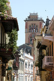 De architectuur van Cartagena DE Indias. Colombia Royalty-vrije Stock Afbeeldingen