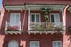 De architectuur van Cartagena DE Indias. Colombia stock afbeeldingen