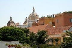 De architectuur van Cartagena DE Indias. Colombia Stock Fotografie