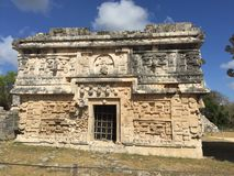 De architectuur van Chichenitza in Mexico Stock Foto