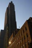 De Architectuur van de Baksteen van New York stock afbeeldingen