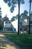 De architectuur van de Bauhausstijl in Dessau Stock Foto