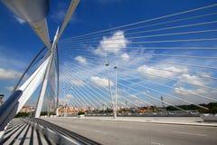 De architectuur van de brug, Putrajaya Stock Foto