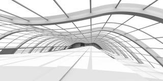 De Architectuur van de gang Stock Illustratie